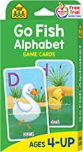 School Zone - Go Fish Alphabet Game Cards - Ages 4 and Up, Preschool to First Grade, Uppercase and Lowercase Letters, ABCs...