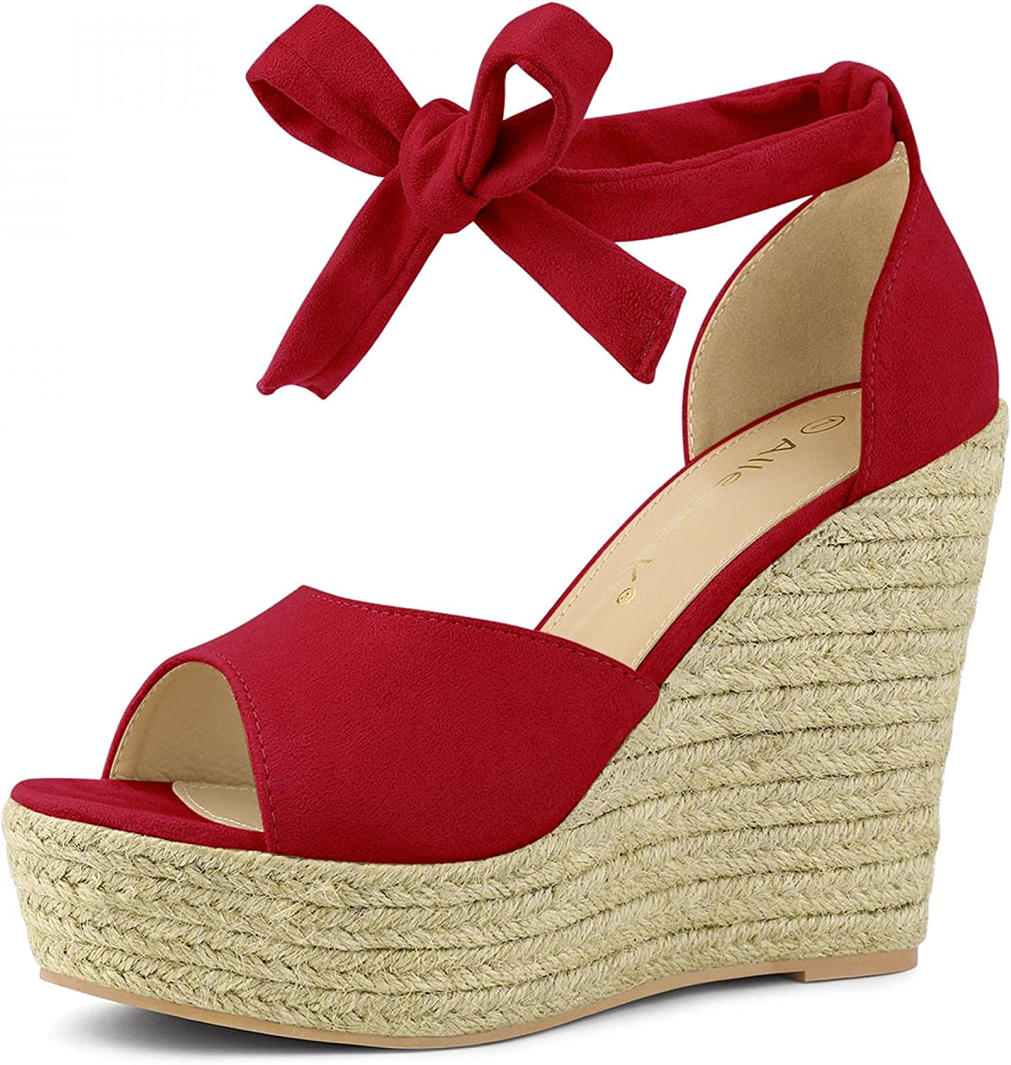 Be super welcome Allegra Max 73% OFF K Women's Espadrilles Tie Ankle Up Wedges Strap Sandals