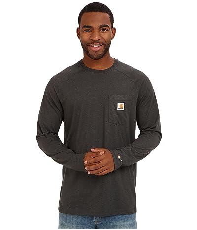 Carhartt Force(r) Cotton Delmont Long-Sleeve T-Shirt (Carbon Heather) Men