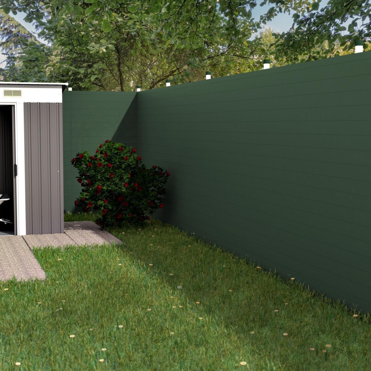Revestimiento de estera de protección visual y cortavientos para valla, de Homelux, para balcones y jardines, de PVC, impermeable y de secado rápido, resistente a los rayos UV, color y medidas a