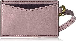 Fossil Women's Leather Card Case Wristlet Wallet
