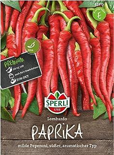 Sperli Premium Paprika Samen Lombardo  Mild, Süß, Aromatisch  Peperoni Samen  Paprika Saatgut