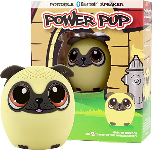 2021 My Audio Pet Mini Bluetooth Animal Wireless Speaker for Kids of All Ages - True online sale Wireless Stereo – Pair with Another discount TWS Pet for Powerful Rich Room-Filling Sound (Power Pup) outlet sale