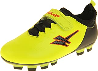 Botas de fútbol con tacos, aptas para césped artificial, Gola Activo5 para niños y niñas