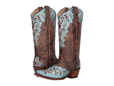 Corral Boots L5369 (Shedron/Light Blue) Women