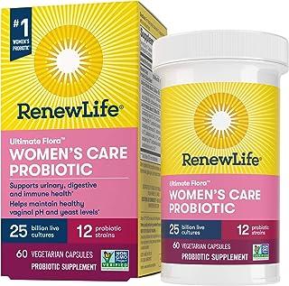 Renew Life #1 Women's Probiotics 25 Billion CFU Guaranteed, 12 Strains, Shelf Stable, Gluten Dairy & Soy Free, 60 Capsules...