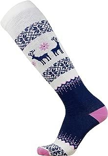 Warm Wool Ski Socks - Sweater Deer Sock for Skiing - Merino Winter, Snowboard