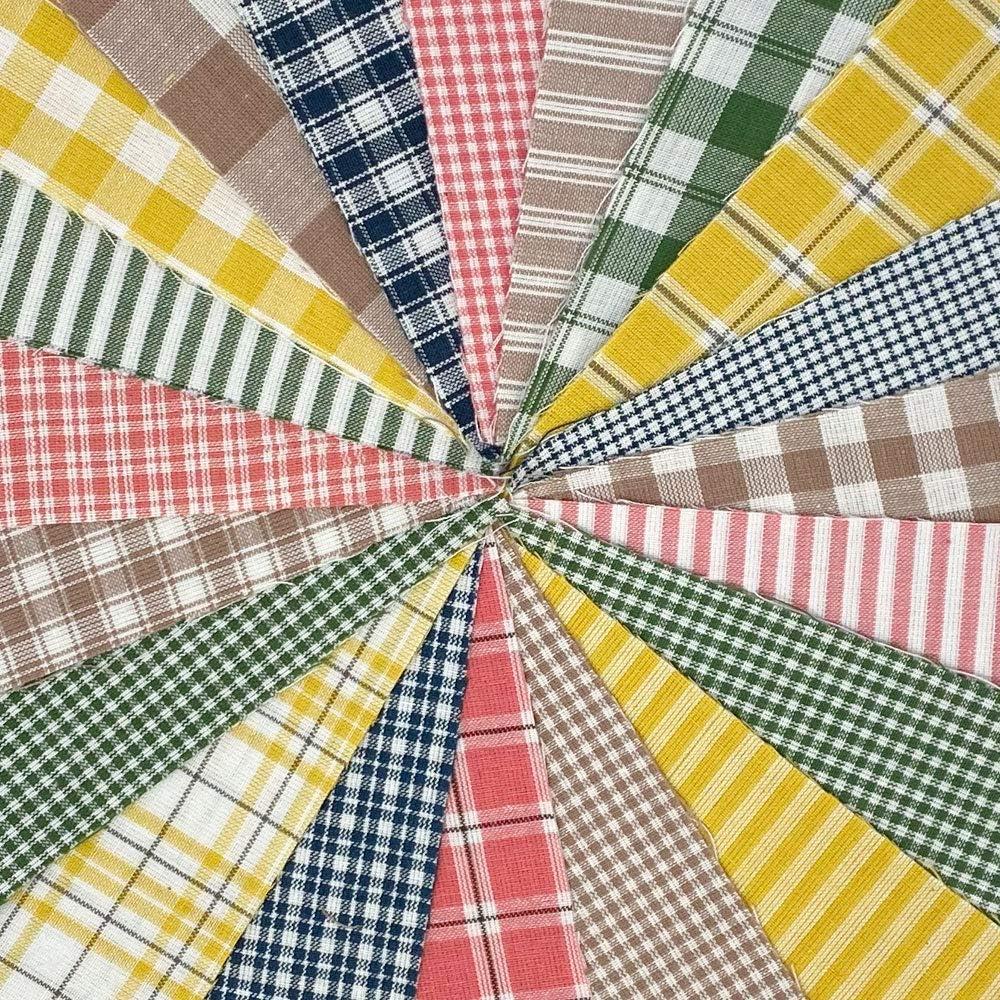 Spring Large discharge sale Garden Homespun Fabric Cotton Quilt Memphis Mall inch Kit six pr 200+