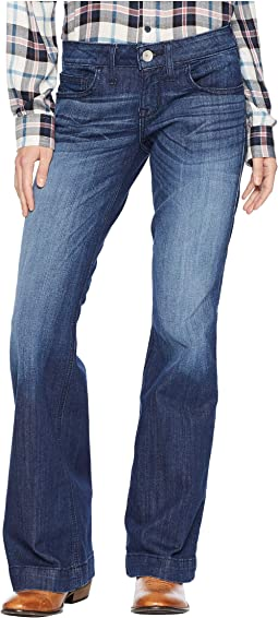 Trouser Half Moon Jeans in Chill Blue