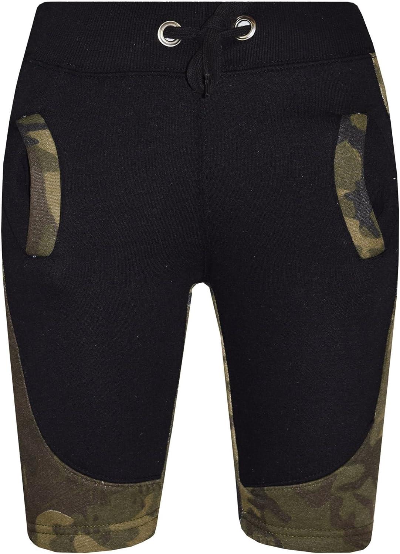 A2Z Kids Girls Boys Shorts Fleece Camouflage Green Panel Chino Half Pants 5-13 Years