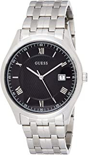 Guess Mens Quartz Watch, Analog Display and Stainless Steel Strap W1218G1