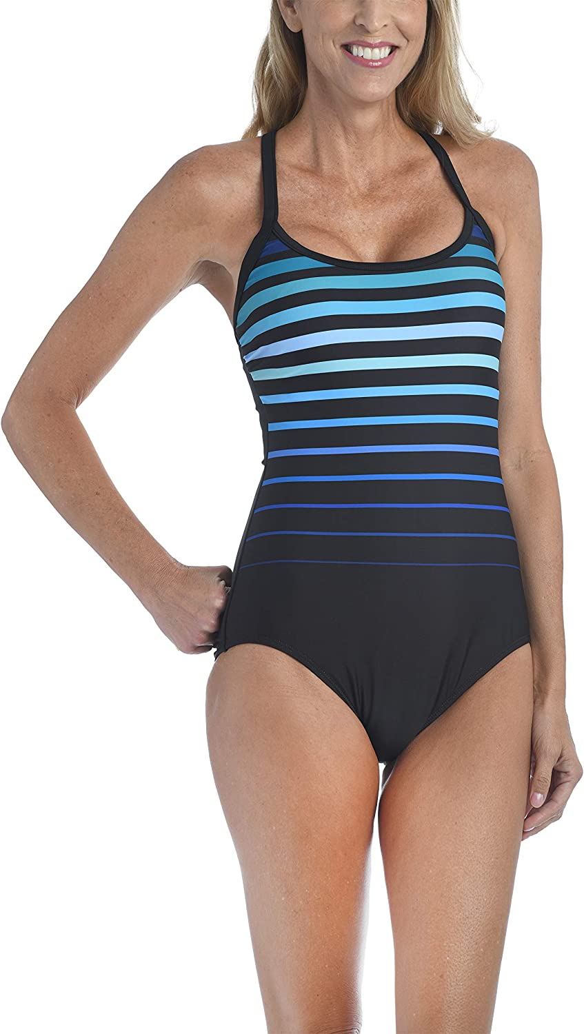 Maxine Of Hollywood Women's Standard Over The Shoulder Maillot One Piece Swimsuit