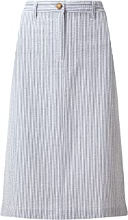 e7b8549545 Cotton Traders Womens Full Casual Cotton Seersucker Striped Skirt