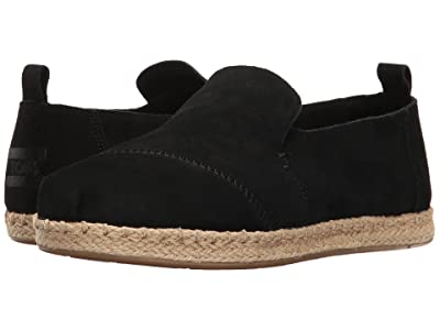 TOMS Deconstructed Alpargata (Black Suede) Women