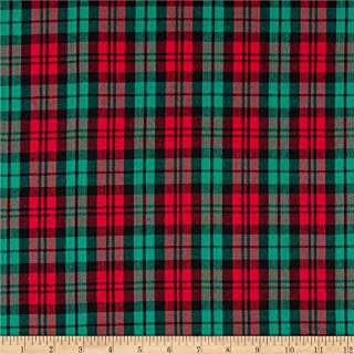 black and red tartan fabric