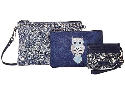 Sakroots Artist Circle Adventure Triple Pouch (Navy Spirit Desert) Handbags
