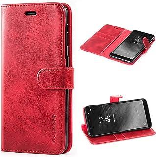 Mulbess Cover per Samsung Galaxy A6 Plus, Custodia Pelle con Magnetica per Samsung Galaxy A6 Plus / A6+ [Vinatge Case], Vi...