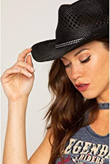 Women's Bling Straw Cowgirl Hat - Bb-19