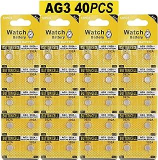 JOOBEF 40 Pack Watch Alkaline Battery Button Cell LR41 AG3 Pack of 40 Batteries