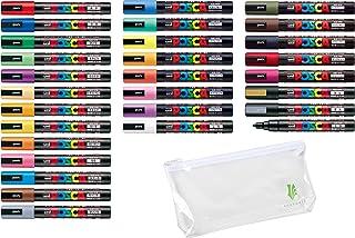 ACEPORTE Pen Case & Paint Marker Pen - Medium Point - Non Alcohol - Odorless Water Resistant Pen Maker (PC5M.29Colors)