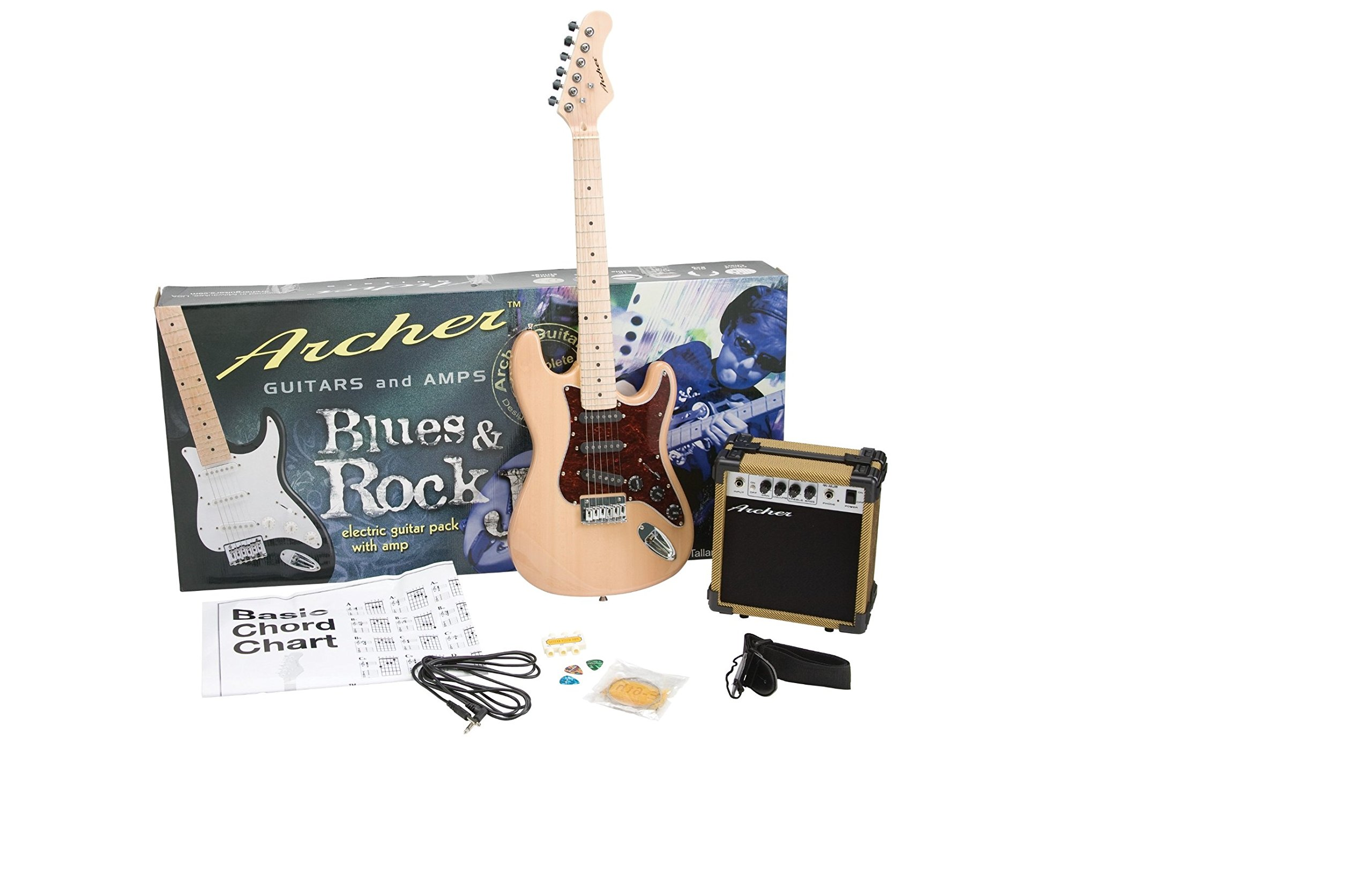 Cheap Archer Solid-Body Electric Guitar with Maple Neck Black Friday & Cyber Monday 2019