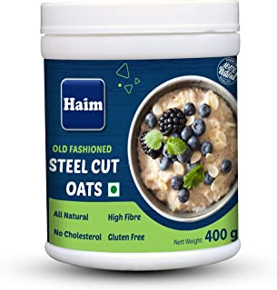 HAIM Old Fashioned Steel Cut Oats ( 100% Wholegrain, Gluten Free, Vegan, Non GMO) 400g Pack of 1