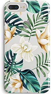iPhone 5S,SE Case,Cute Flowers Coffee Floral Bahama Green Leaves with White & Brown Flowers Aloha Summer Tropical Beach Blossom Roses Cherry Women Girls Soft Case Compatible for iPhone 5s/SE