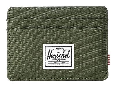 Herschel Supply Co. Charlie RFID (Dark Olive) Wallet Handbags