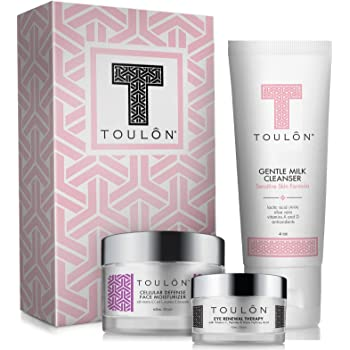 Anti Aging Skin Care Kits: Beauty Gift Sets for Women; Alpha Hydroxy Face Cleanser, Antioxidant Day Cream for Face & Eye Cream for Dark Circles and Puffiness. Perfect Gift Set Kit