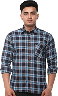 JPF Smart Mens Checkered Cotton Regular Fit Casual Full Sleeve Shirt with Pocket Colorful Casual Shirt for Men