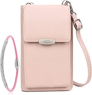 Sponsored Ad – Women's Cross Body Bags – 8 Card Slots, Zip Coin Pocket, Cash & ID Compartments – Leather Phone Pouch, Smal...