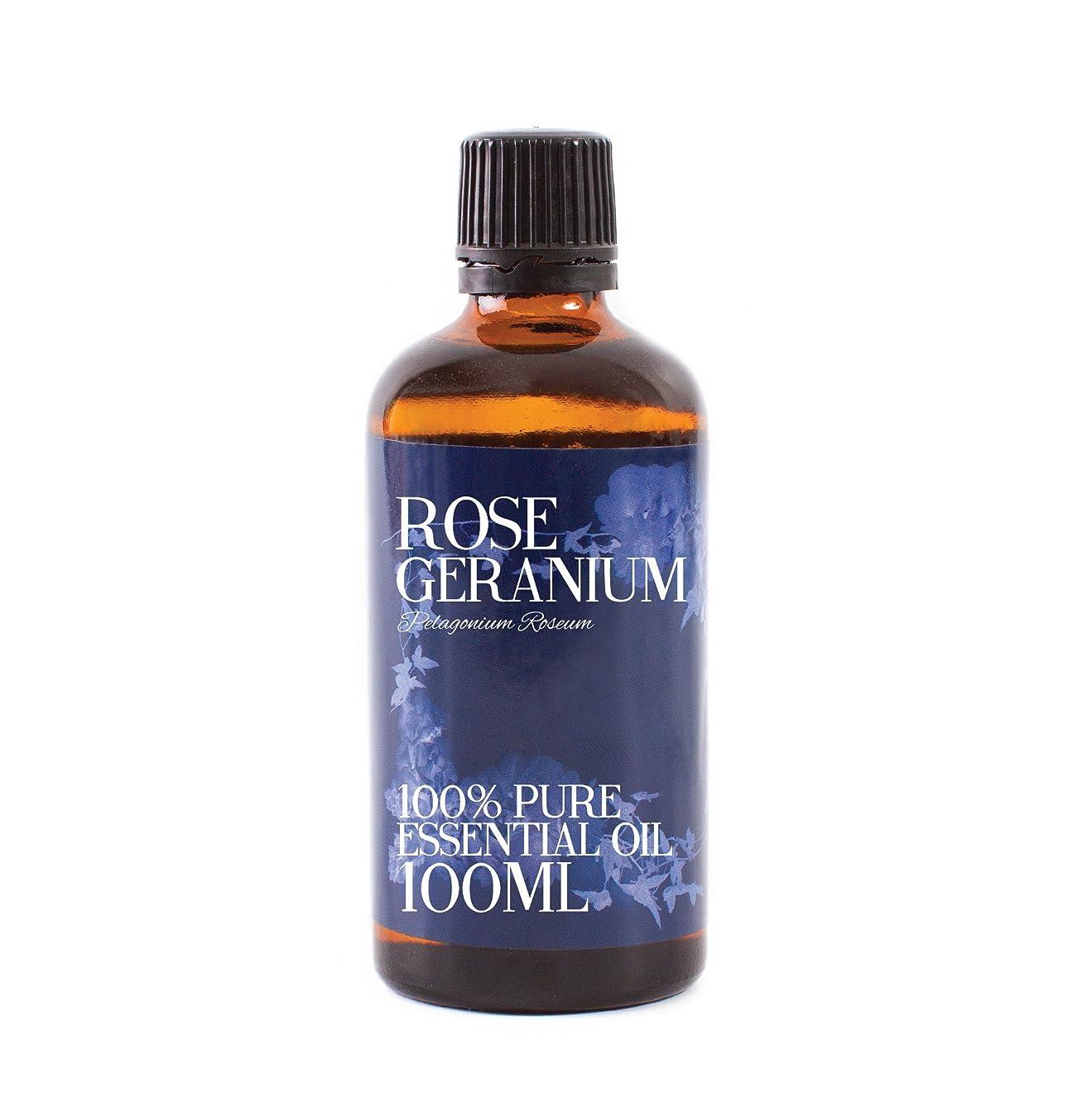 脆いプラスチック参加するMystic Moments | Rose Geranium Essential Oil - 100ml - 100% Pure