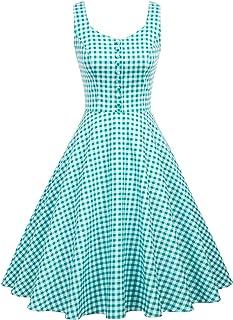 Belle Poque Vestito Donna Elegante Abito Donna Vintage Dress for Party Abito Svasato Donna BP000416