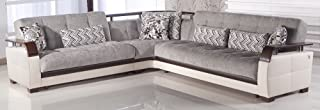 Natural Sectional Sofa | Valencia Gray