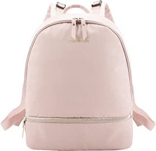 mommore Diaper Backpack Fashion Diaper Bag with Changing Pad for Baby Care, Pink