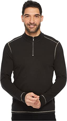 Barrel Long Sleeve 1/4 Zip Slub Terry