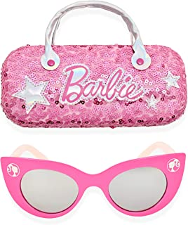 Girl's Cat Eye Sunglasses and Handled Hard Case Set