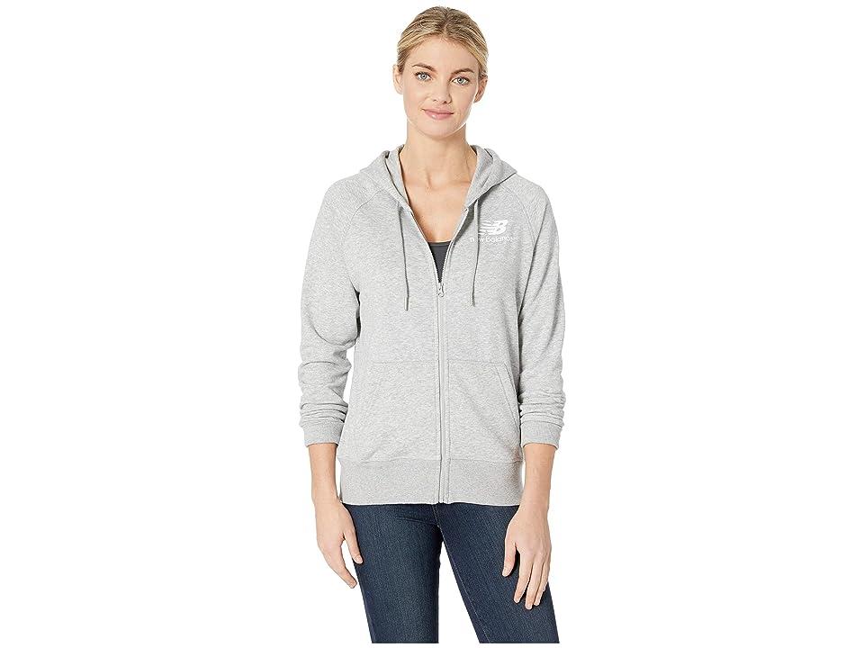 New Balance Essentials Full Zip Hoodie (Athletic Grey 2) Women