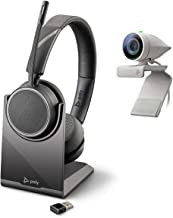 Poly - Studio P5 Webcam with Voyager 4220 UC Headset Kit (Plantronics + Polycom) - 1080p HD Professional Video Conferencin...