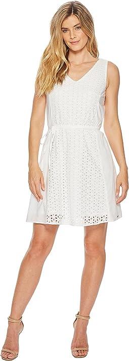 Eyelet Dress with Belt
