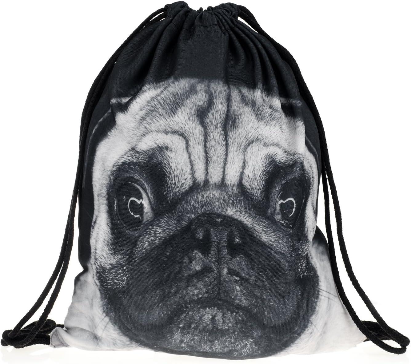 Fringoo Genuine Free Shipping Men's Fullprint Max 58% OFF Drawstring Bag Shoulder Rucksac Backpack