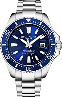 Stuhrling Original Mens Dive Watch - Pro Sport Diver with Screw Down Crown and Water Resistant