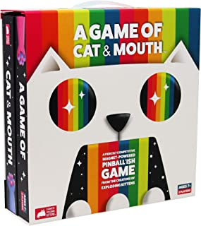 A Game of Cat and Mouth by Exploding Kittens - Magnet-Powered Kitten-Catapult Ball-Flinging Game - Award-Winning Party Gam...