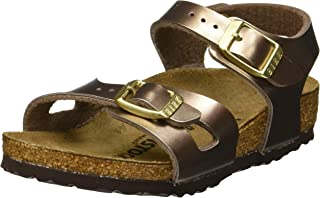 "Birkenstock ""Rio Kids Electric Metallic Copper Sandales Fille Enfants"