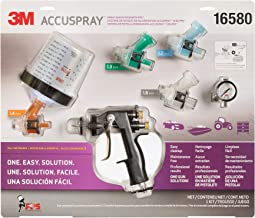 3M Accuspray Paint Spray Gun System with Original PPS, 16580, Standard, 22 Ounces, Use for Cars, Furniture, Cabinets and More,1 Paint Gun,1 Paint Cup, 1 Collar, 5 Disposable Lids and Liners, 4 Nozzles