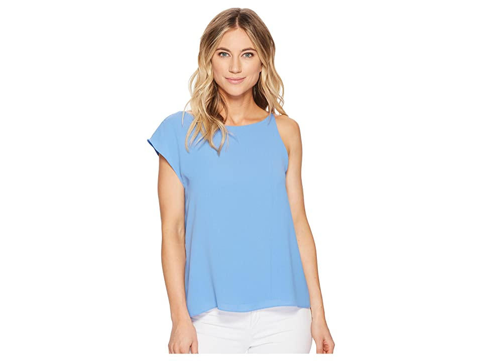 Image of Adelyn Rae Addy Draped Top (Azure Blue) Women's Clothing