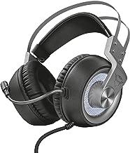 Trust GXT 4376 - Ruptor Auriculares Gaming con Unidades acústicas de 50 mm, Sonido Envolvente 7.1 e iluminación, Gris