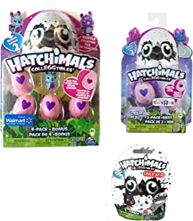 Hatchimals Colleggtibles Season 2 Exclusives Bundle - Burtle 4-pack + bonus Owlicorn 2-pack + nest Bearakeet 1-pack