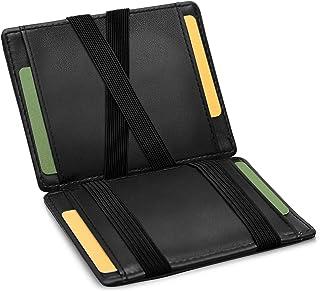 GenTo® Magic Wallet Monte Carlo - Billetera mágica Fina sin Compartimento para Monedas - Regalo para Hombre y Mujer con Es...