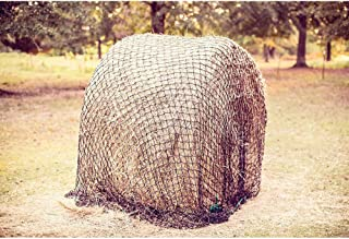 Round Bale Slow Feed Hay Net by Texas Haynet